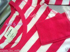 EUC Abercrombie Kids Girls XL 14 16 Dark Pink White Long Sleeve Shirt TOP | eBay