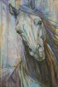 Horse Art Print featuring the painting Tempest by Silvana Gabudean Dobre Fine Art Amerika, Horse Artwork, Horse Print, Equine Art, Animal Paintings, Horse Paintings, Stretched Canvas Prints, Original Paintings, Canvas Art
