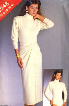 Vintage 80s See and Sew 5548 Misses UNCUT Knit Body Suit and Wrap Sarong Skirt Sewing Pattern Size 12-16 Bust 34-40 by RomasMaison on Etsy https://www.etsy.com/uk/listing/270771460/vintage-80s-see-and-sew-5548-misses