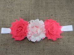 Neon Pink and White Polka Dot Headband by GracefullyHis on Etsy