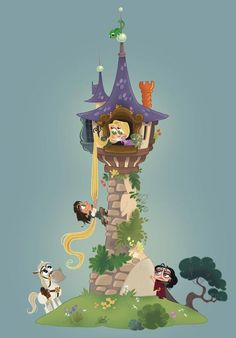 Disney Rapunzel, Film Disney, Disney Movies, Disney Punk, Disney Princesses, Kawaii Disney, Chibi Disney, Kawaii 365, Disney Fan Art