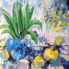"""22"""" square Ron Coleman Palms, Archive, Inspirational, Floral, Painting, Art, Collection, Flowers, Kunst"""