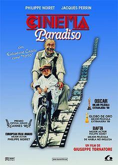 Cinema Paradiso (1988). DVD propio. Enlace: http://cinemagoya.blogspot.com.es/2014/12/cinema-paradiso.html