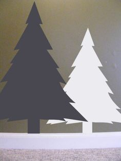 Rustic Decor Woodland Pine Trees Wall Decal set by HouseHoldWords