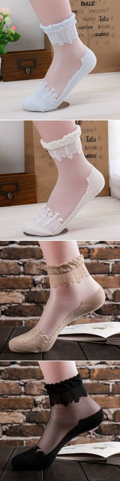 US$4.53+Free shipping#Women Lace Ankle Socks:very nice quality and they are very,very pretty