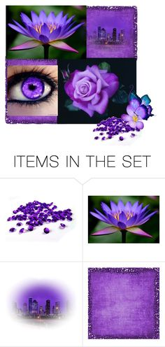 """""""All Things Purple"""" by lois-boyce-flack ❤ liked on Polyvore featuring art"""