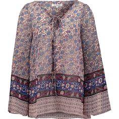 Bluse mit Alloverprint - Locker geschnittene Bluse von Glamorous. Die weiten Ärmel und der gebundene Ausschnitt komplettieren den Style. Mit Hut und Flared Pants ein absolutes Must Have für den Herbst. - ab 29,90€