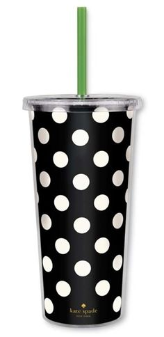 PURSELADYTOO - Kate Spade Insulated Tumbler, $18.00 (http://www.purseladytoo.com/kate-spade-insulated-tumbler/)