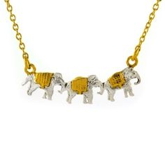 Marching Elephants Necklace