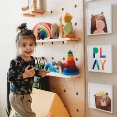 Montessori shelves are a beautiful and practical way to store and display your little one's toys. Here are a few of the best Montessori-inspired toddler shelving options for your home! Montessori Toddler Rooms, Montessori Bedroom, Toddler Playroom, Boy Toddler, Toddler Stuff, Toddler Floor Bed, Relaxing Colors, Unique Flooring, Vintage Design