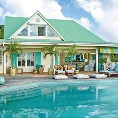 By my favorite designer Barry Darr Dixon!  St. Barts Island Cottage - Coastal Living