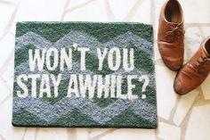 DIY spraypainted rug.