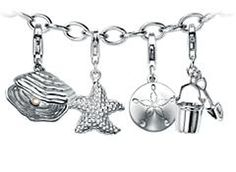 Day at the Beach Charm Bracelet #BlueNile  Perfect for summer!!