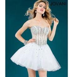 $400.00 Jovani Short Dress at http://viktoriasdresses.com/ Through John's Tailors