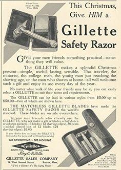 Funny Gillette Razor  Advertising Refrigerator Tool Box  Magnet