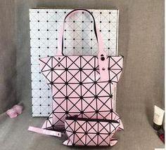 Geometric Folding Women Bag Handbag Large Casual Tote Diamond Lattice Shoulder Bags