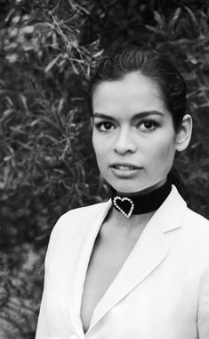 Look of the day: black and white portrait of the stunning Bianca Jagger in 1971.