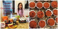Easy, Healthy Banana Chocolate Chip Muffins