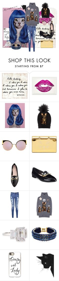 """""""You say Crazy Cat Lady...like it's a bad thing. ;-)"""" by successisbella ❤ liked on Polyvore featuring Sugarboo Designs, Oliver Gal Artist Co., Empire Art Direct, Dolce&Gabbana, Fendi, Charlotte Olympia, Kate Spade, Tommy Hilfiger, Fantasia by DeSerio and Only Child"""