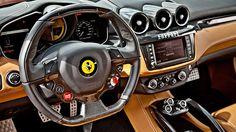 Interieur of a Ferrari FF http://www.autorevue.at/best_of_test/modellvorstellung/kann-denn-liebe-sunde-sein.html