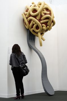 Leaning Fork with meatball and spaghetti by Claes Oldenburg & Coosje van Bruggen
