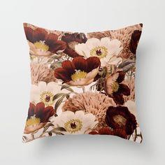 Vintage Garden 2 #society6 Throw Pillow