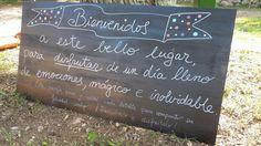 Pizarra BIENVENIDOS A ESTE BELLO LUGAR www.eventosycompromiso.com