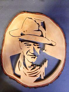 John Wayne Fretwork Portrait | Mike Fehrings Artistry In Wood