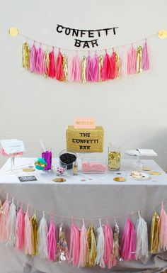 Wedding Confetti Bar