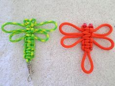 Quick tutorial on how to make a paracord dragonfly. 5 minute video, project takes 3 minutes. Great project for beginners.