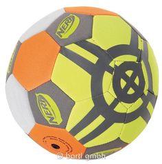 NERF Neopren Fußball, Wasserfest und griffig durch Neoprenoberfläche. Größe 5 | 111230 / EAN:4008332165707