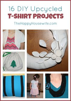 Do you have a collection of old t-shirts? Here are some DIY projects to upcycle your wardrobe!