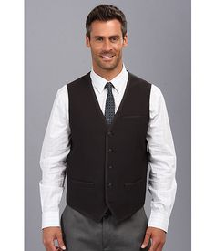 Perry Ellis Slim Solid Text Vest Black - Zappos.com Free Shipping BOTH Ways