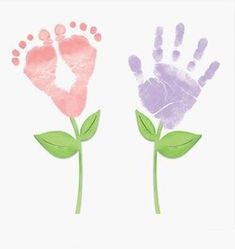 Handprint and footprint painting   PicturesCrafts.com