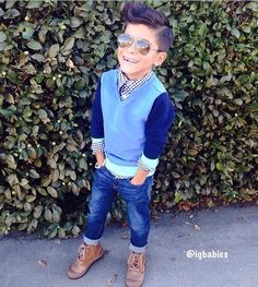 All those layers. Little boy swagger. Toddler fashion.