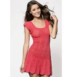 Sexy crochet dress PATTERN, casual crochet dress PATTERN, CHART and basic instructions in English, charts are not interpreted in words!