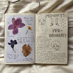 Image de art, journal, and flowers