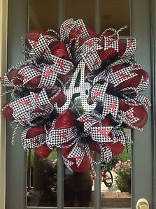 deco mesh wreath alabama images | Alabama Crimson Tide Deco Mesh Door Wreath | eBay