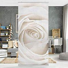 Bilderwelten Rosenbild Raumteiler White Rose Blumen 250x120cm inkl. transparenter Halterung: Amazon.de: Küche & Haushalt Divider, Vase, Inspiration, Home Decor, Material, Products, New Homes, Searching, Textiles