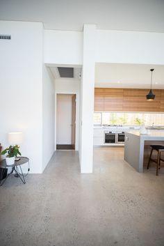 Red Tail Homes Sleek Concrete Kitchen