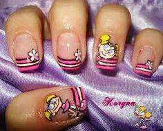 Didi from Dexter' Lab nails