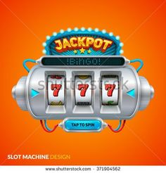Futuristic slot machine illustration - stock vector