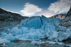 https://flic.kr/p/S9Lqnw   Sunset staring at the blue ice at Nigardsbreen Glacier (Gaupne, Sogn og Fjordane, Norway).