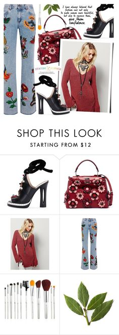 """""""Untitled #1665"""" by noviii ❤ liked on Polyvore featuring Fendi and Gucci"""