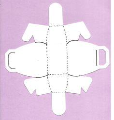 Patron de boite cube d coup e boites en papier - Patron sac en papier ...