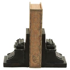 Typewriter Bookend (Set of 2) -- Tessa would love these!