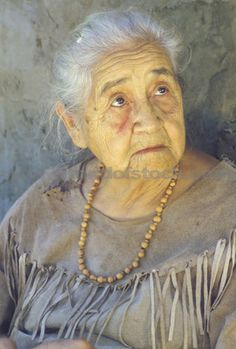 Close-up Of Elderly Native American Woman Wearing Necklace Tasalagi Cherokee Nation OK