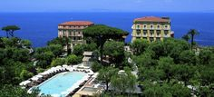 Where we stayed on our wedding night in Sorrento! Grand Hotel Excelsior Vittoria, Sorrento