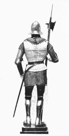 Spanish halberdier, Xv century (back view)