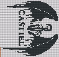 Could be used as a knitting pattern for Cas. Rotated Alpha Pattern added by persimmons Cross Stitch Floss, Beaded Cross Stitch, Modern Cross Stitch, Cross Stitch Embroidery, Embroidery Patterns, Cross Stitch Patterns, Friendship Bracelet Patterns, Friendship Bracelets, Perler Bead Art